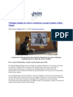 09-06-13 Víctimas dudan en volver a declarar en nuevo juicio a Ríos Montt