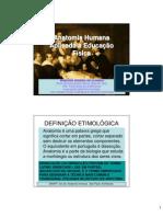 Introdução Anatomia Humana Aplicada à Educação Física 1 DIA