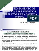 Comandos Eletricos Dimensionamento de Fusiveis Rele Termico e Contator Para Partida Direta