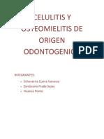 Celulitis y Osteomielitis de Origen Odontogenico