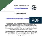 2. Liga - Greuther Fürth - FC Augsburg (2-1)