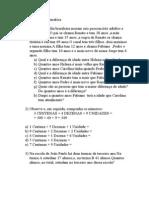 Problemas de Matemática (aula de quarta)