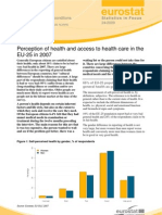 Perception of Health and Acces to Healthcare EU
