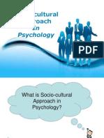Socio Cultural Psychology