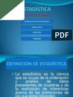 ESTADÍSTICA( SESIÓN DE CLASE)