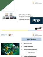 Rendición Cuentas 2012 ARCH Logros