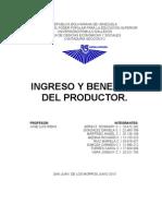 Ingreso y Beneficio Del Productor