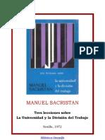 La Universidad Y La Division Del Trabajo de Manuel Sacristan..pdf
