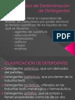 Métodos de Determinación de Detergentes