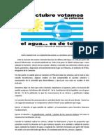 Carta Abierta de La CNDAV