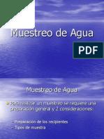 Muestreo de Agua (IX IQ)
