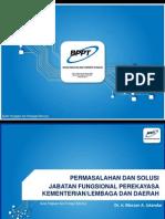 [BPPT] Permasalahan Dan Solusi Jabatan Fungsional Perekayasa Kementerian-Lembaga Dan Daerah