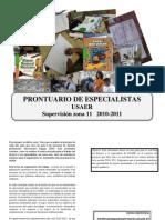 Prontuario Para Especialistas Jul 2010 USAER