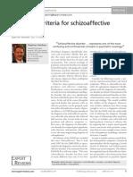 Diagnostic Criteria for Schizoaffective Disorder