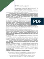 Guia para desarrollar un Proyecto (El Título de la Investigación)