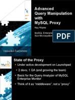 Advanced Query Manipulation with MySQL Proxy