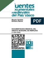 Documentación medieval del Archivo Municipal de Pamplona (1129-1356)