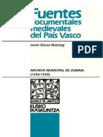 Documentación medieval del Archivo Municipal de Zumaia (1256-1520)