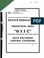 Estate Regulation Industrial Area ( Giic ) - Deltamas - Cikarang