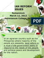 Agrarian Reform Issues