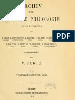 Archiv für slavische Philologie 34