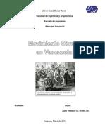 Historia Del Movimiento Obrero en Venezuela
