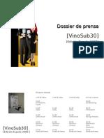 Dossier Prensa Vinosub30