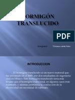 HORMIGÓN TRANSLUCIDO - TRABAJO DE COMUNICACION 2012