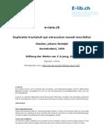 GLAUBER Explicatio Tractatuli Qui Miraculum Mundi Inscribitur (Tomo2 di 4)