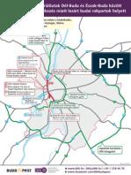 A BKK által 2013. június 10-én javasolt kerülő útvonalak