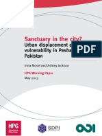 Sanctuary in the City? Urban displacement and vulnerability in Peshawar,