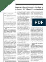 PROTECCIÓN DEL DERECHO LABORAL