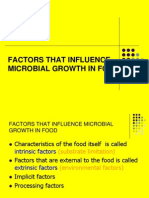Factors That Influence Microbial Growth in Food