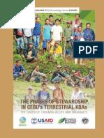 The Phases of Stewardship in Cebu's Terrestrial KBA's