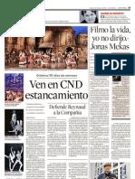 """Artículo en el periódico mexicano """"Reforma"""""""