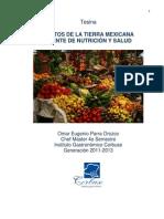 Frutos de La Tierra Mexicana Fuente de Nutricion y Salud
