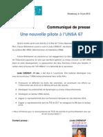 20130610 - CP Une Nouvelle SD UNSA 67 Le 10 06 13
