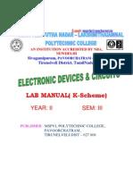 EDC Lab Manual Eee