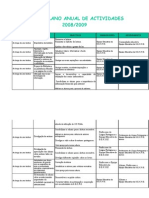 Plano Anual Actividades 2008/09