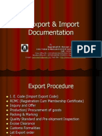 Export & Import Documentation