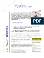 Clasificaciones de Pesas Oiml r 111 Astm e 617 y Nist f