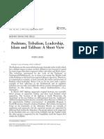 LIEBL PushtunsTribalismLeadershipIslamTaliban(1).PDF