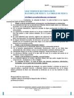 Regulile Tehnicii Securitatii in Cabinetul (Laboratorul), La Orele de Fizica. Model. 2010