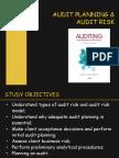 Chap 8&9 - Audit Planning & Risk
