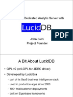 Building a Dedicated Analytics Server with LucidDB