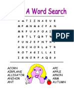 Alphabet Game - Word Searches
