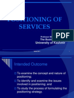 Services Positioning
