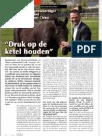 Equitime juni '13 - Handelsprotocol Vlaamse paarden met China