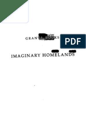 Salman Rushdie-Imaginary Homelands-Random House Publishers