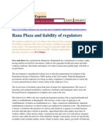 Rana Plaza and Liability of Regulators